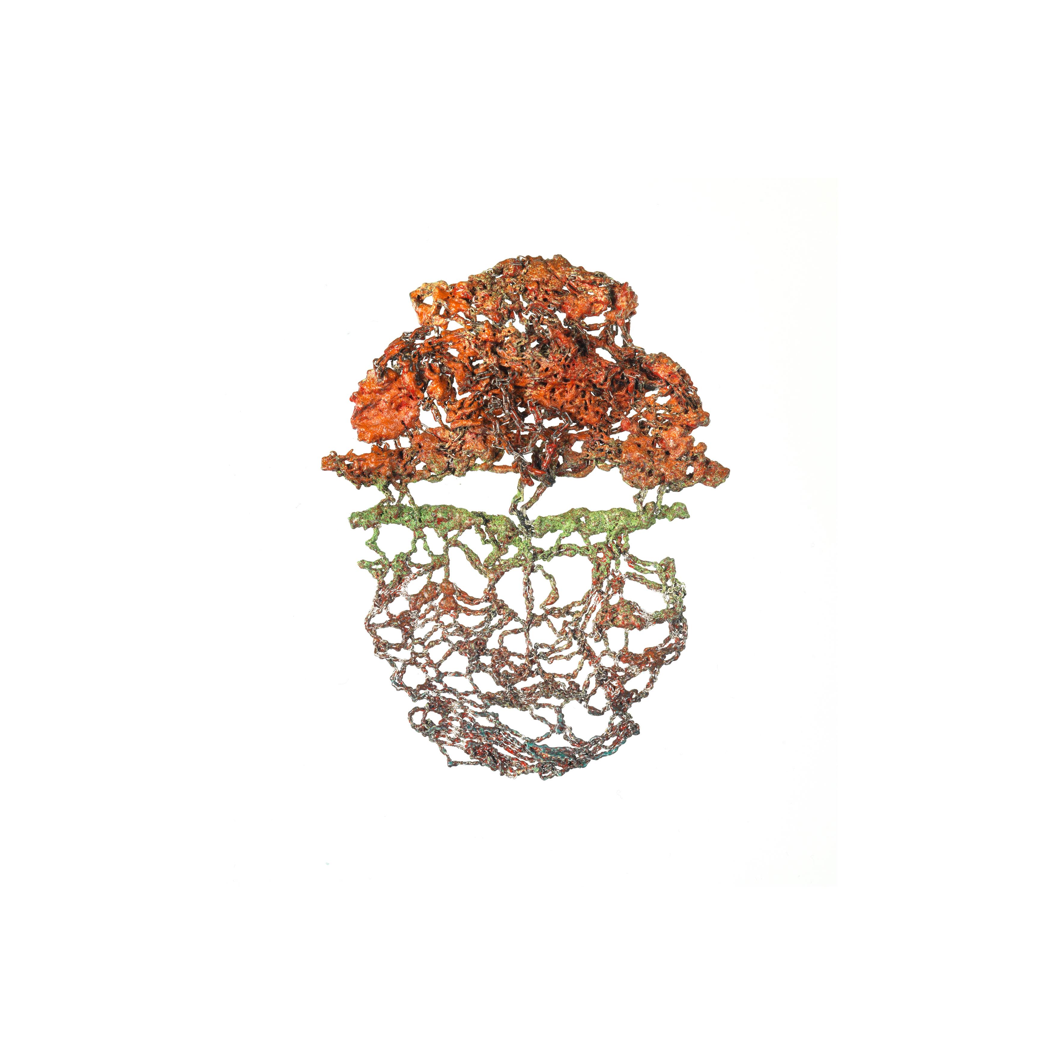 Orange Bloom, Brooch, 2017